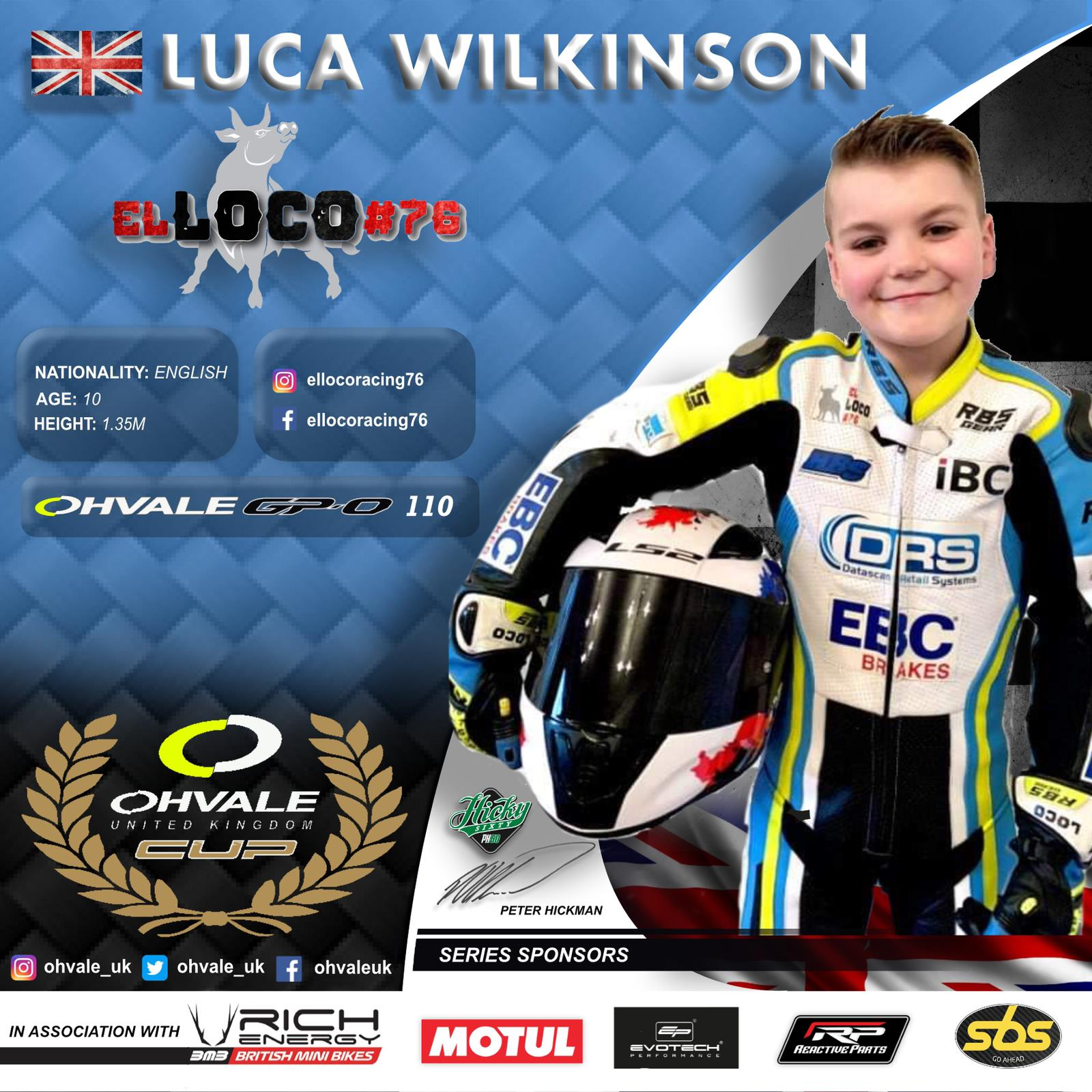 Luca Wilkinson - OHVALE Cup