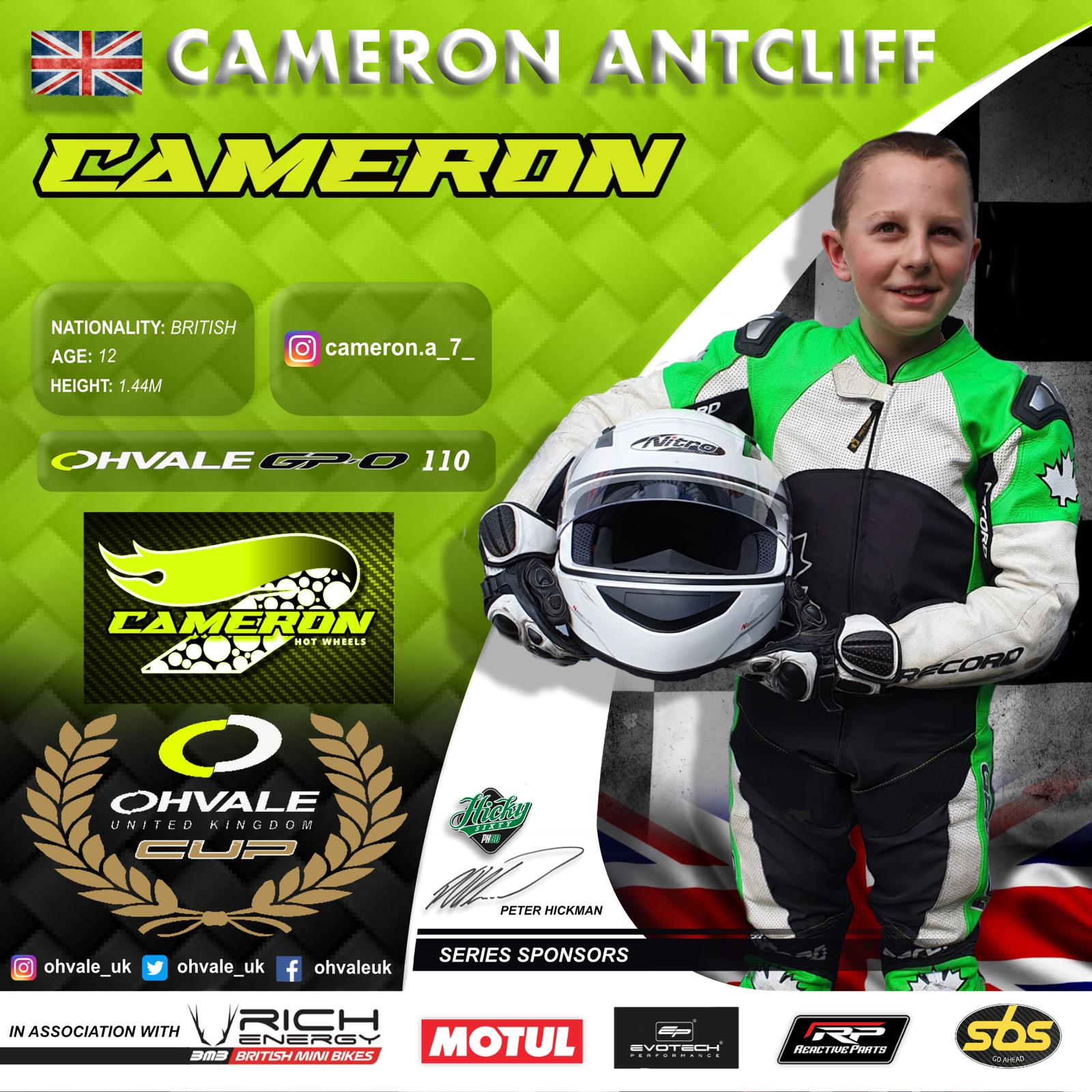 Cameron Antcliff OHVALE Cup