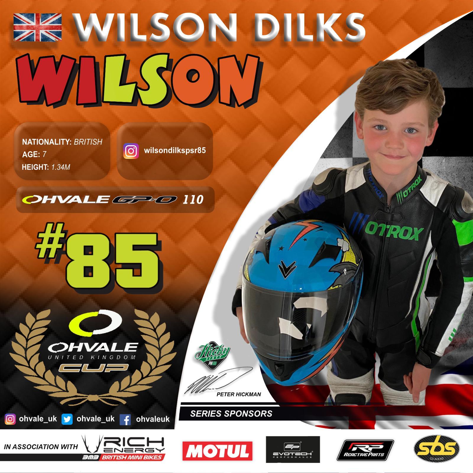 Wilson Dilks - OHVALE Cup