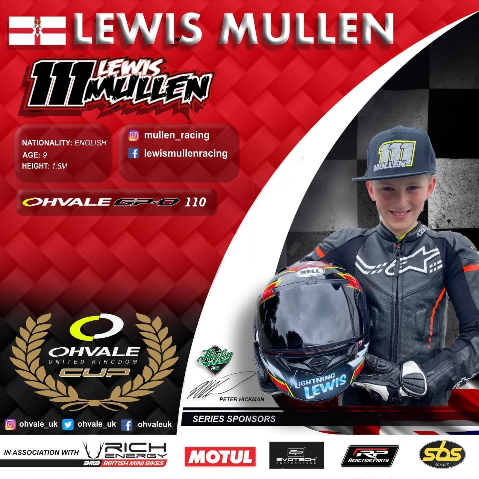 Lewis Mullen OHVALE Cup